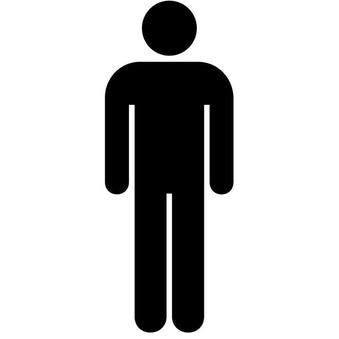 Generic Man Symbol Clip Art at Clker com vector clip art.