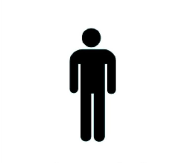 The Man Toilet Sign.