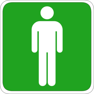 Man Toilet Sign Clip Art at Clker.com.