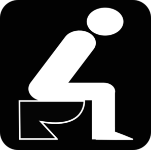 Man Sitting On Toilet Clipart.