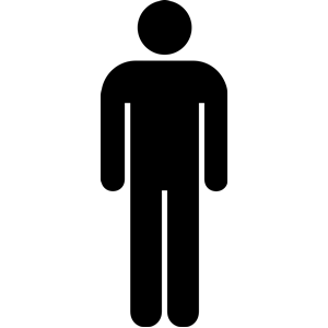 Clipart silhouette man toilet.
