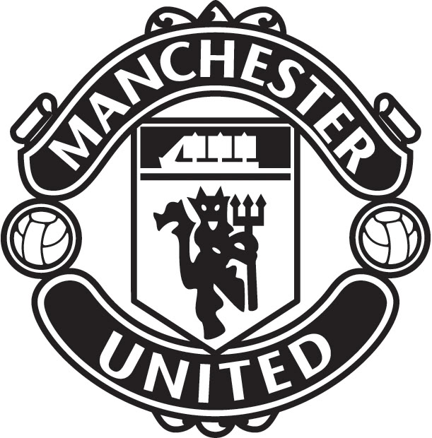 Manchester United Logo Silhouette.
