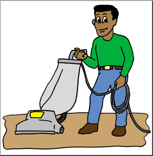 Collection of Vacuuming clipart.
