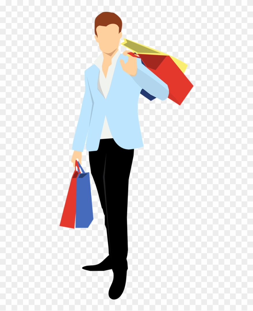 Shopping Man Vector Png Clipart (#466025).