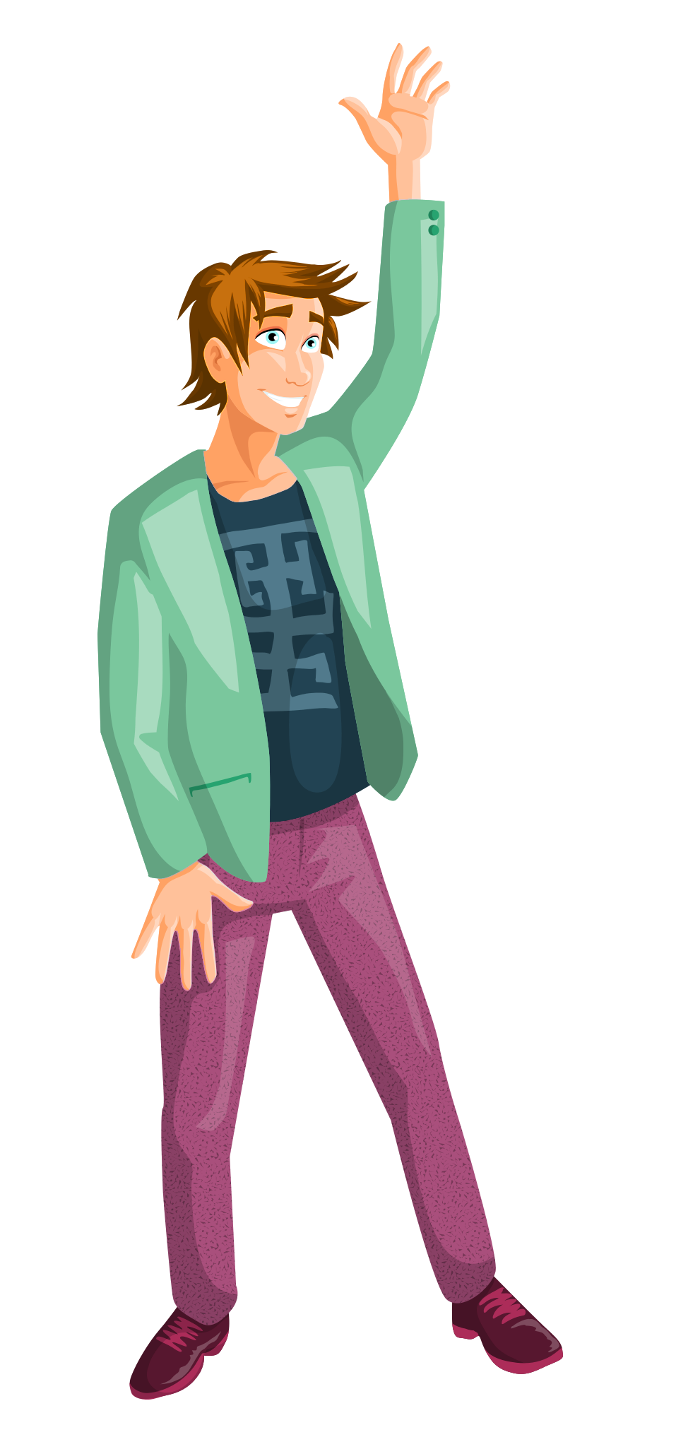 Man Vector PNG Transparent Image.