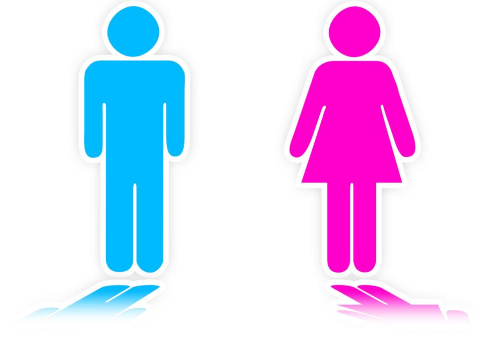 Men Vs Women Clipart.
