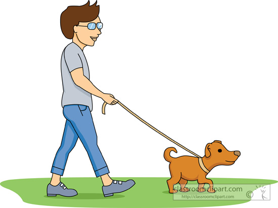 Man And Dog Clipart.