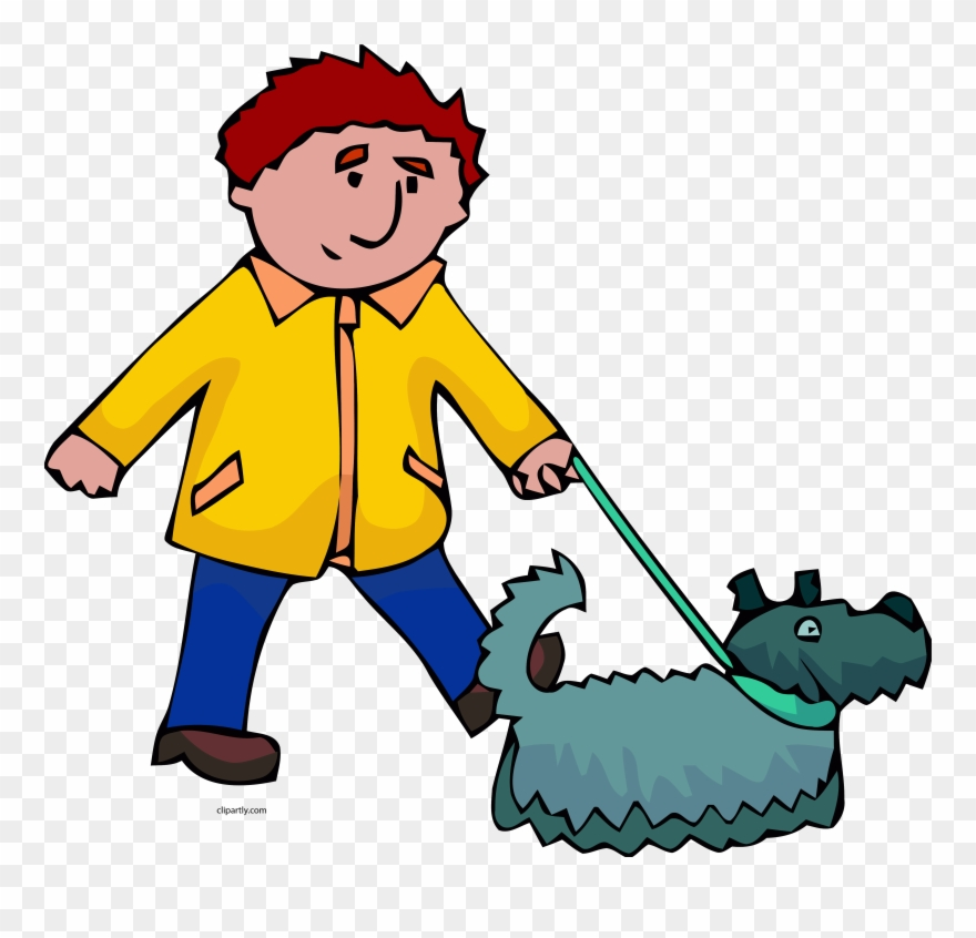 Man And Dog Walking Clipart Png.