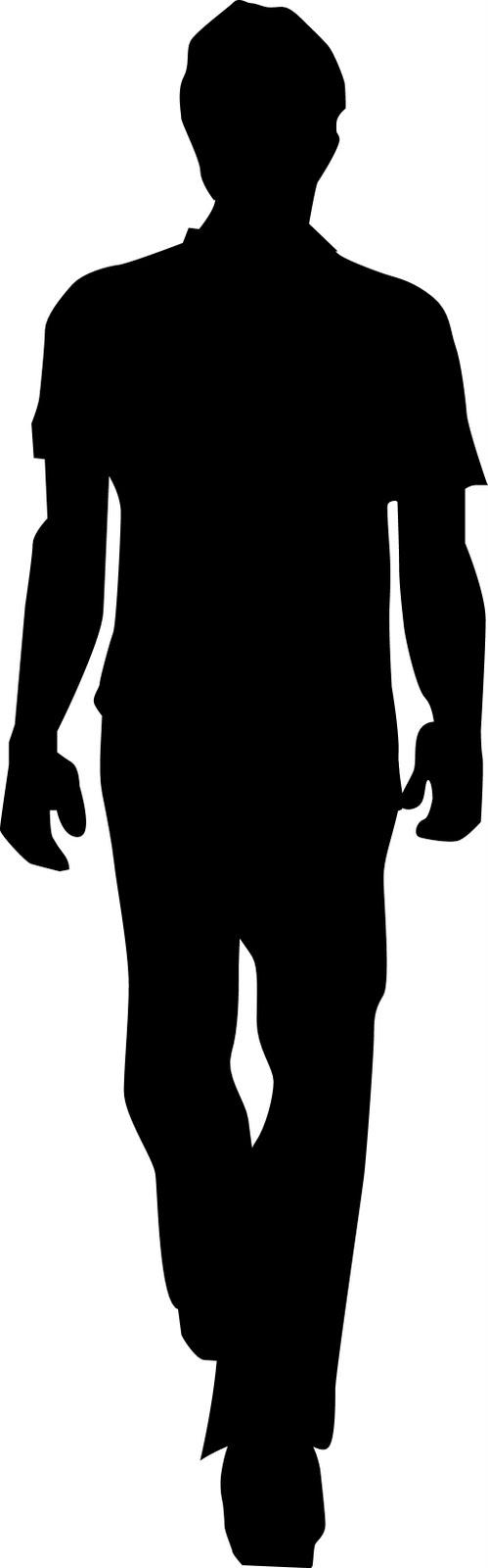 Free Silhouette Man Walking Away, Download Free Clip Art.