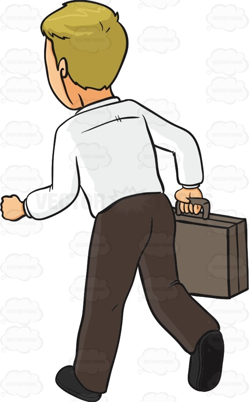 Man Walking Away Clipart.