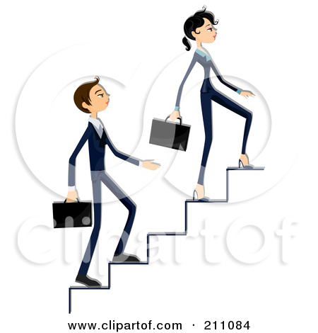 Man Walking Up Stairs Clipart.