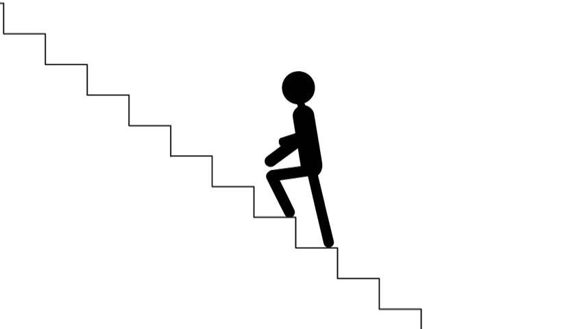 Animation Man Walking.