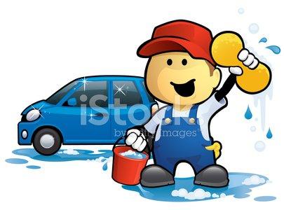 Car Wash Man premium clipart.