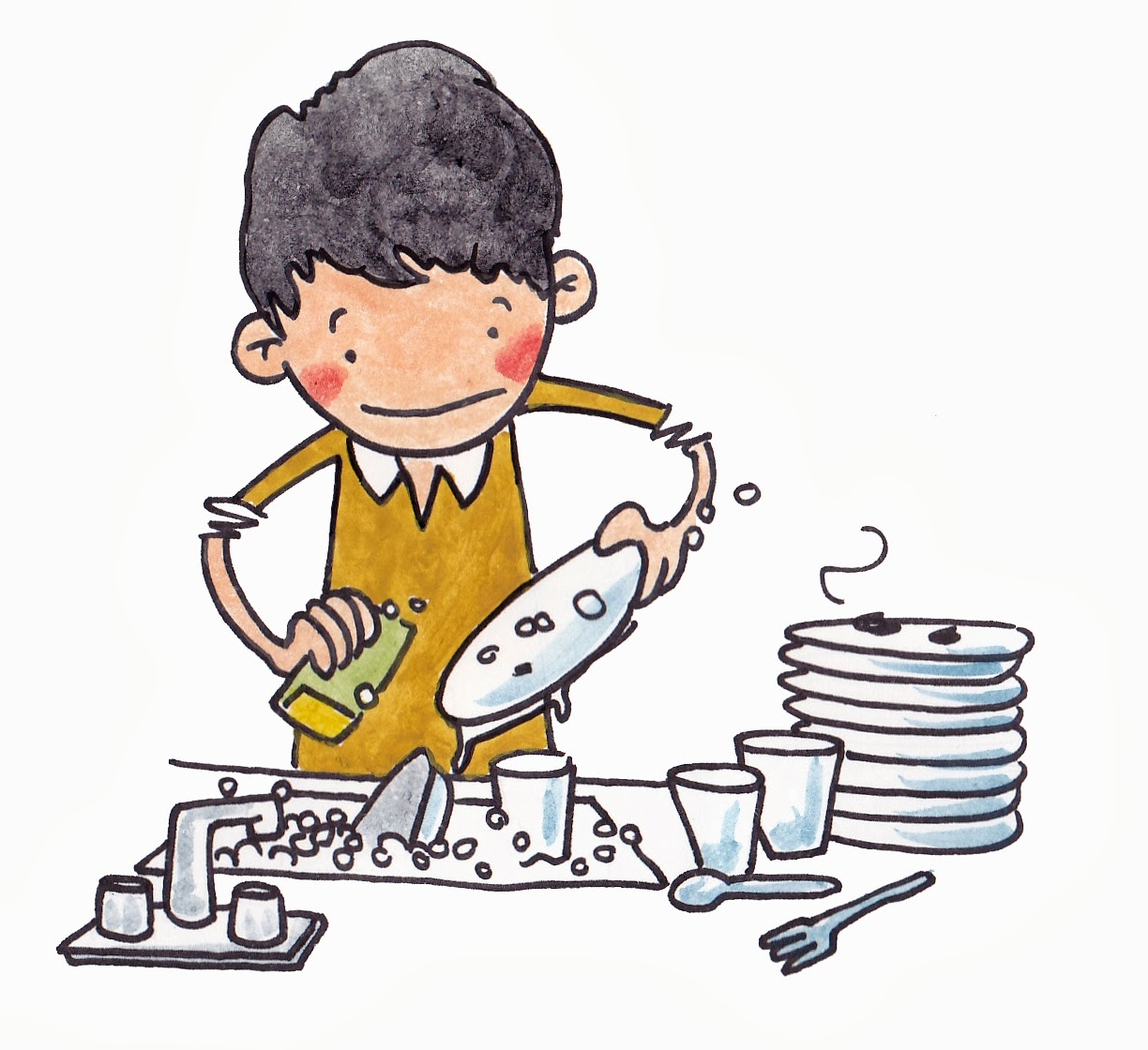 Showing post & media for Someone doing dishes cartoon.