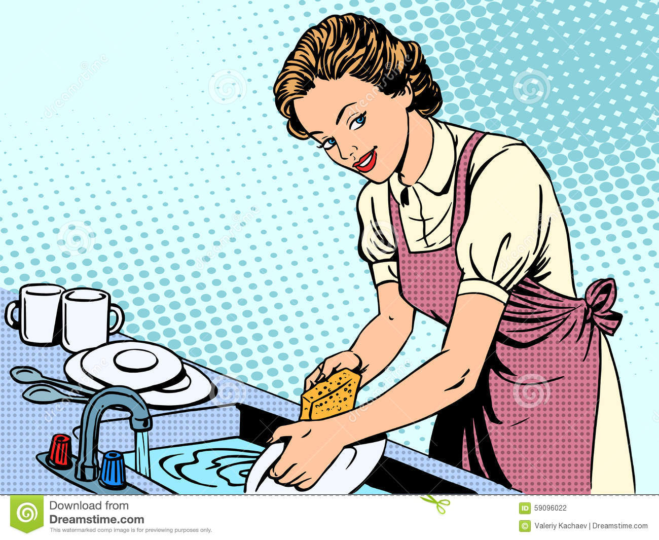 Man Washing Dishes Clipart Clipground