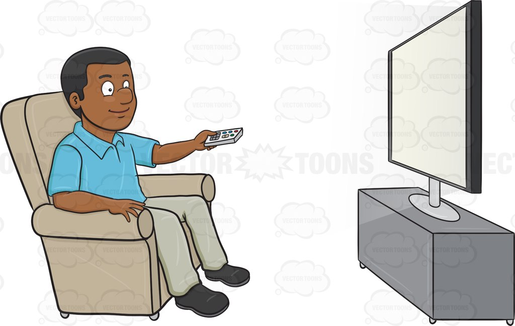 Person Watching Tv Clipart.