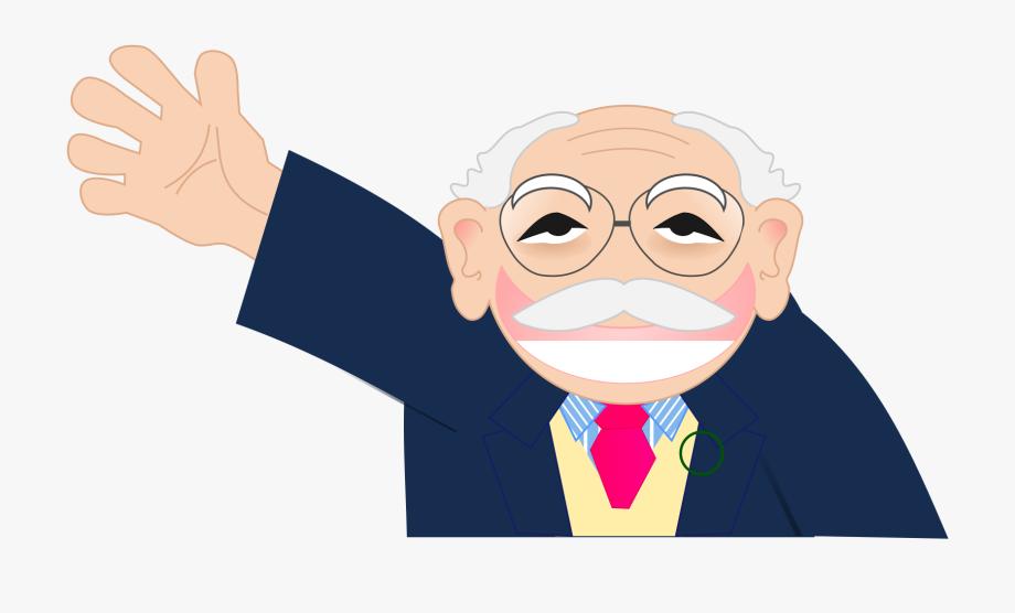 Old Man Waving Clipart , Transparent Cartoon, Free Cliparts.