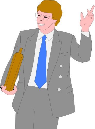 Man Waving Goodbye Clipart.
