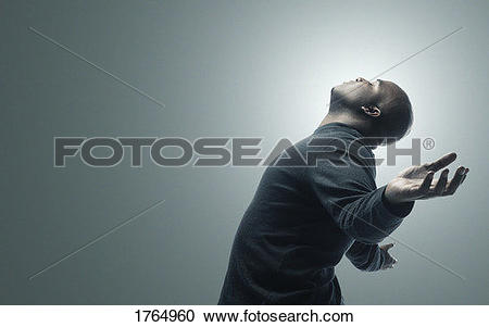Stock Photography of Man with arms raised 1764960.