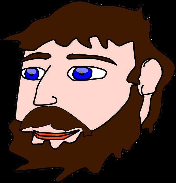 HD Man Face Beard Free Vector Graphic On.