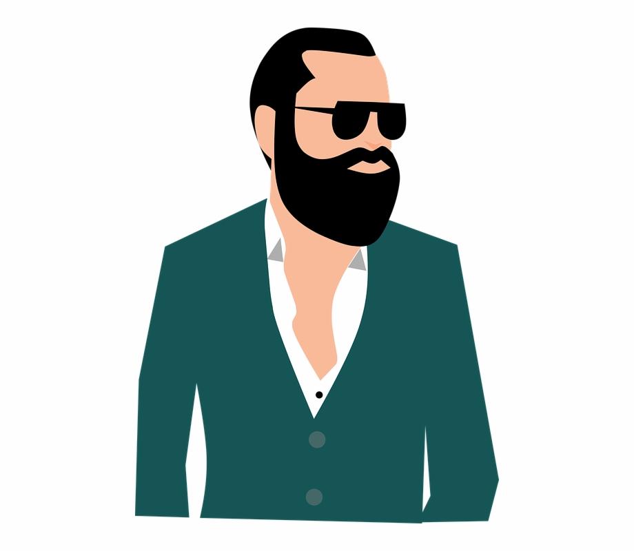 Portrait Adult People Man Beard Boldness Business.