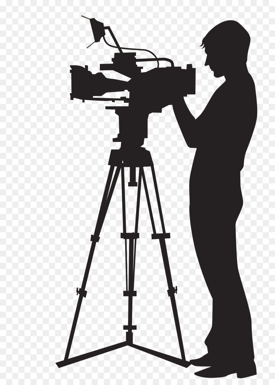 Man With Video Camera Clipart.