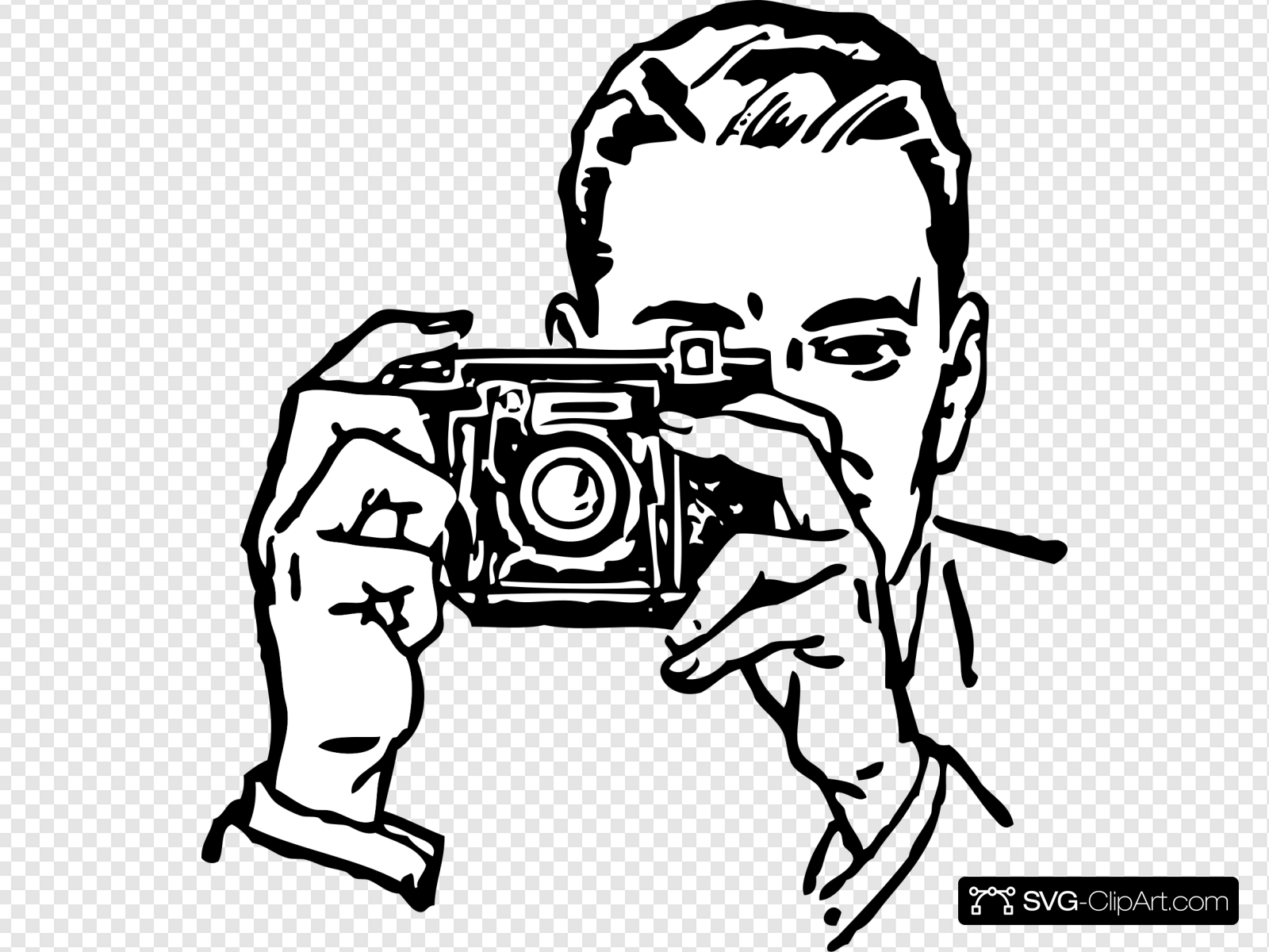 Man With A Camera Clip art, Icon and SVG.