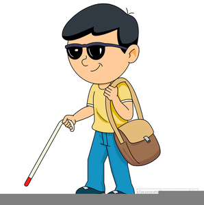 Blind Man With Cane Clipart.