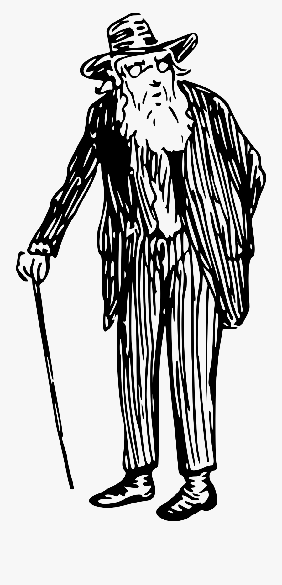 Download Old Man Clipart Black And White.