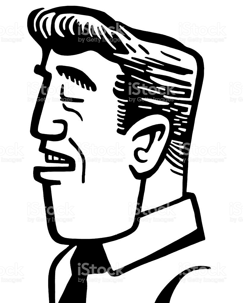 Man With Eyes Closed stock vector art 152407571.