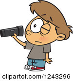 Man With Flashlight Clipart.