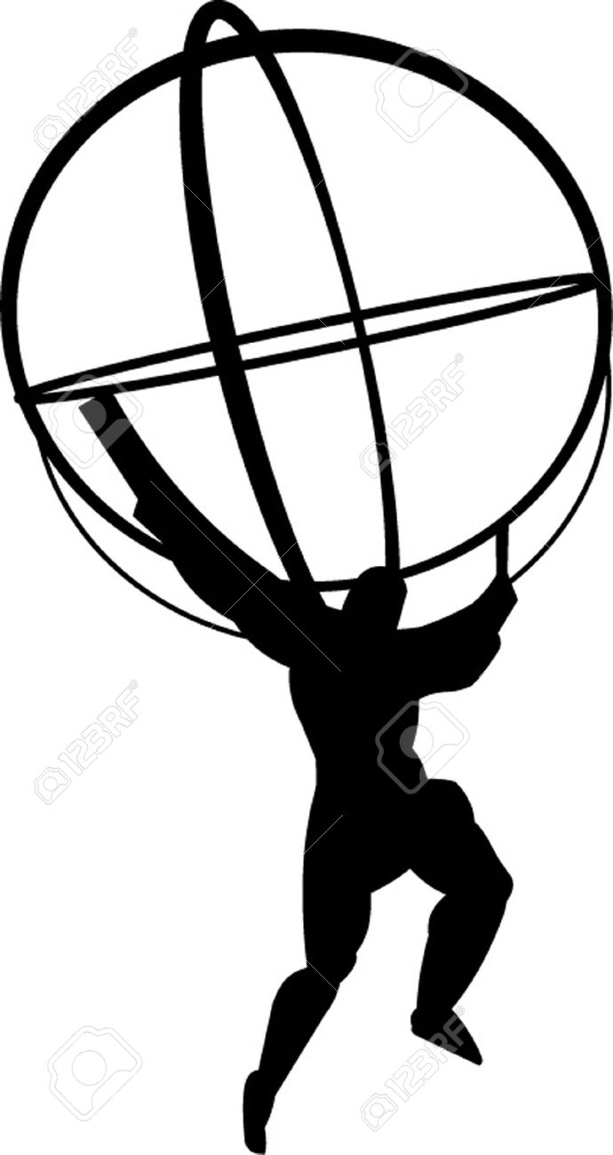 Man with globe clipart - Clipground