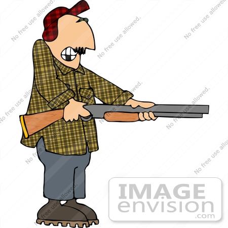 Man Holding Gun Clipart.