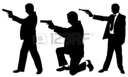 10,778 Man Gun Stock Vector Illustration And Royalty Free Man Gun.