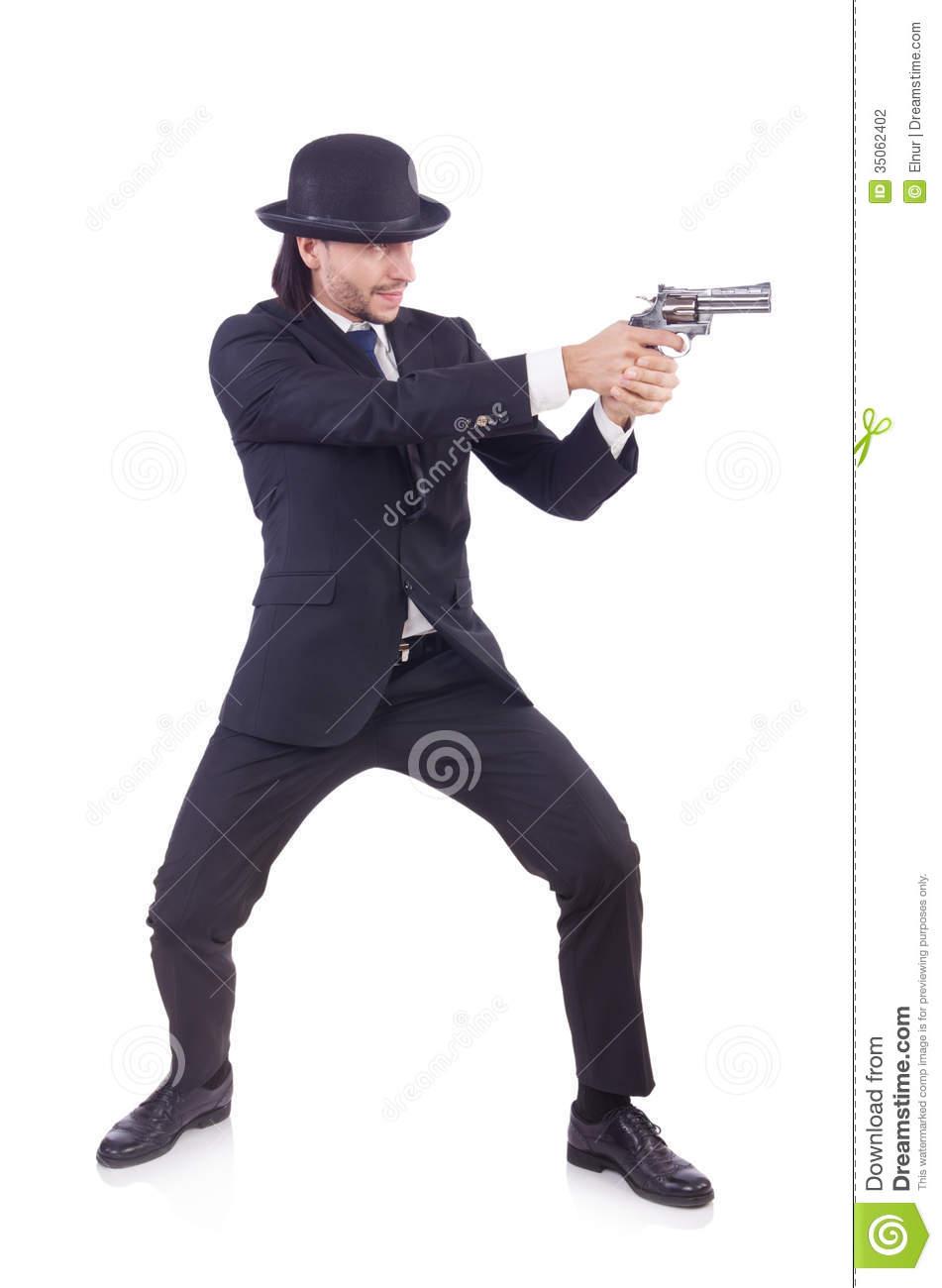 Man With Gun Stock Photography.
