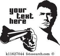 Gun man Clipart EPS Images. 5,083 gun man clip art vector.