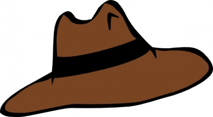 Brown Man Hat Men Cloths free vector.