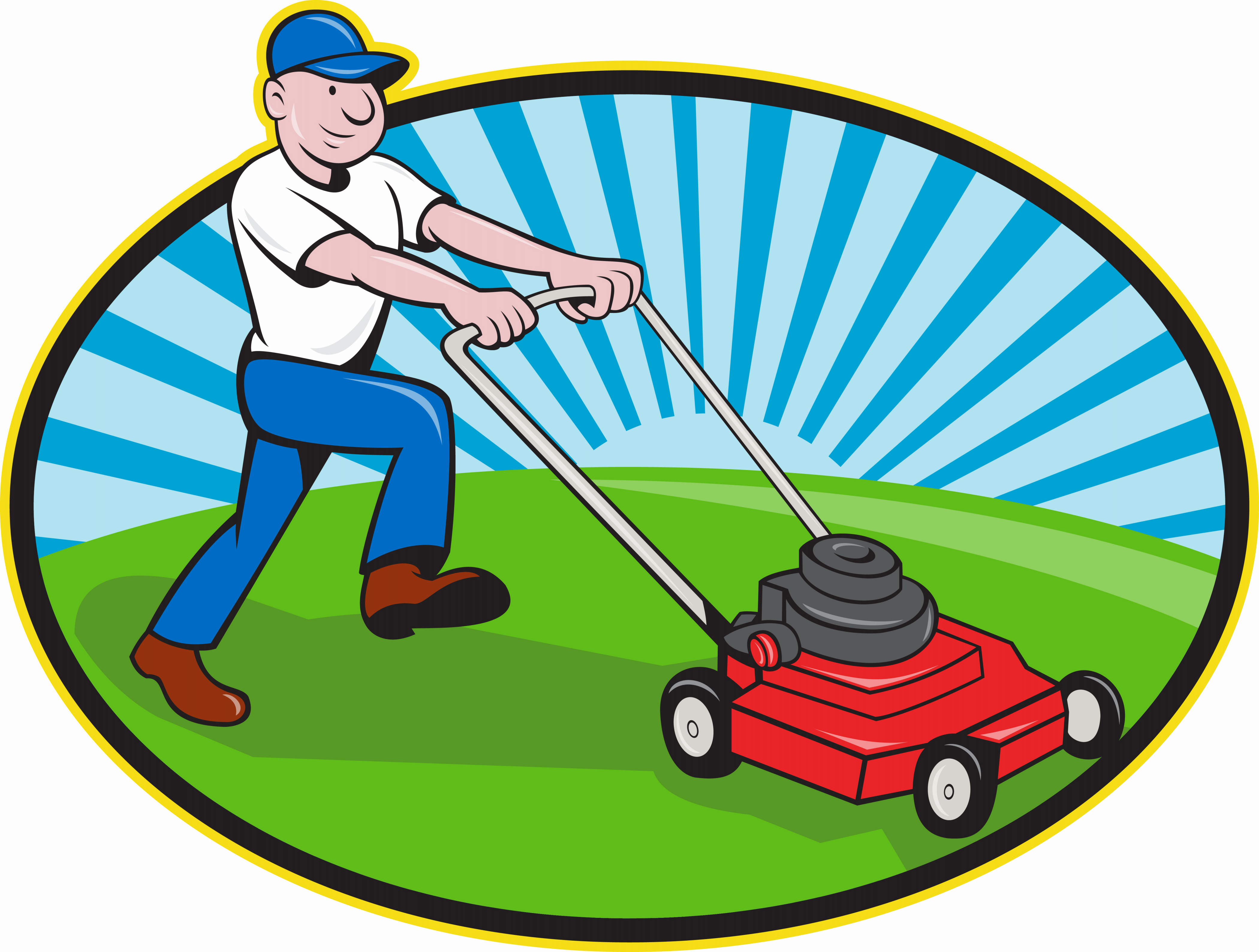 Clipart of Lawn Mower Man free image.