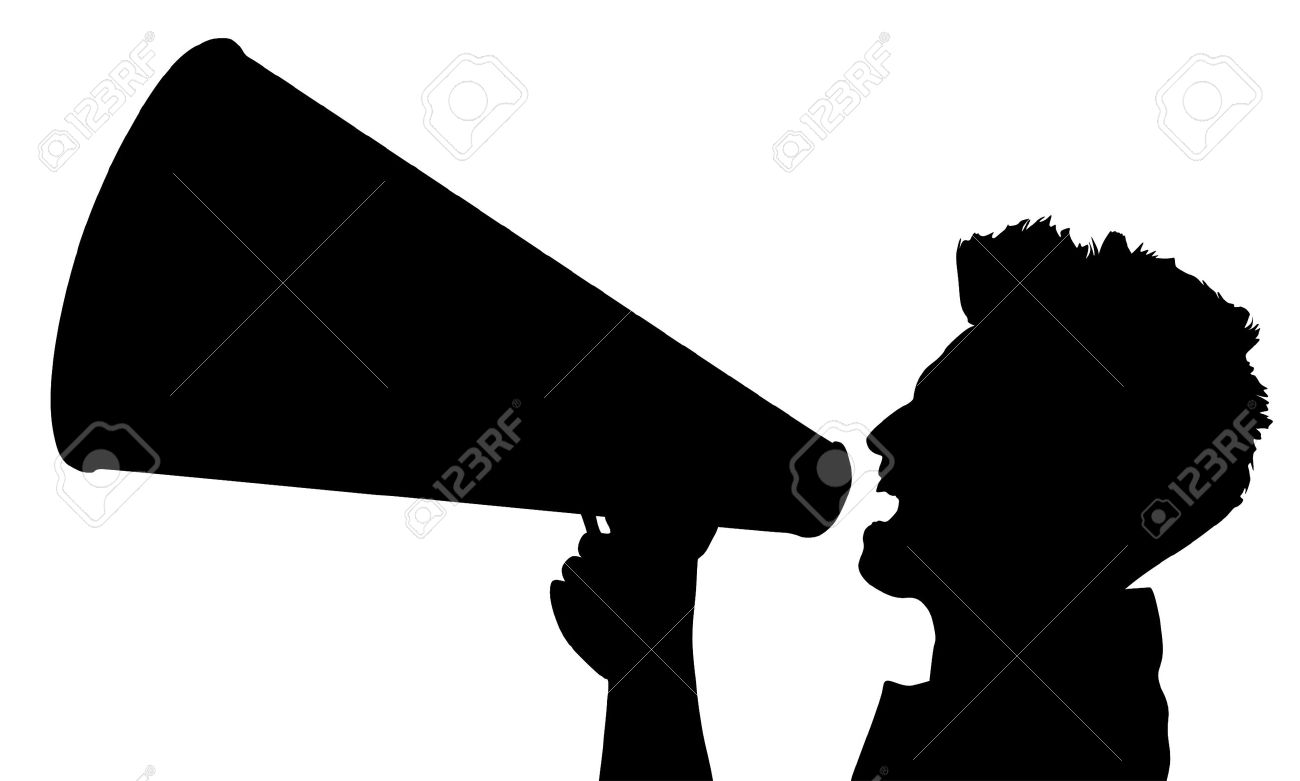 Guy With Megaphone Clipart.