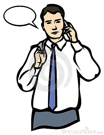 A Man Speaking On A Mobile Phone. JPG And EPS Royalty Free Stock.
