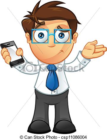 Vector Clipart of Business Man.