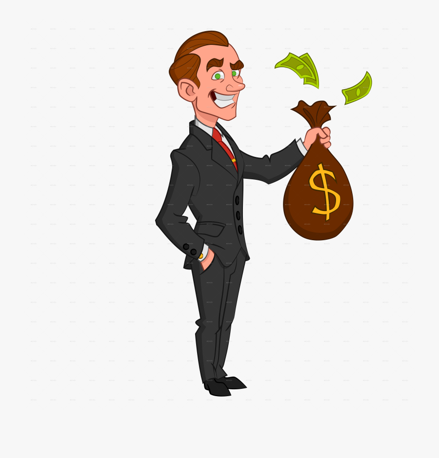 Businessman Money Clipart Vector Transparent Library.