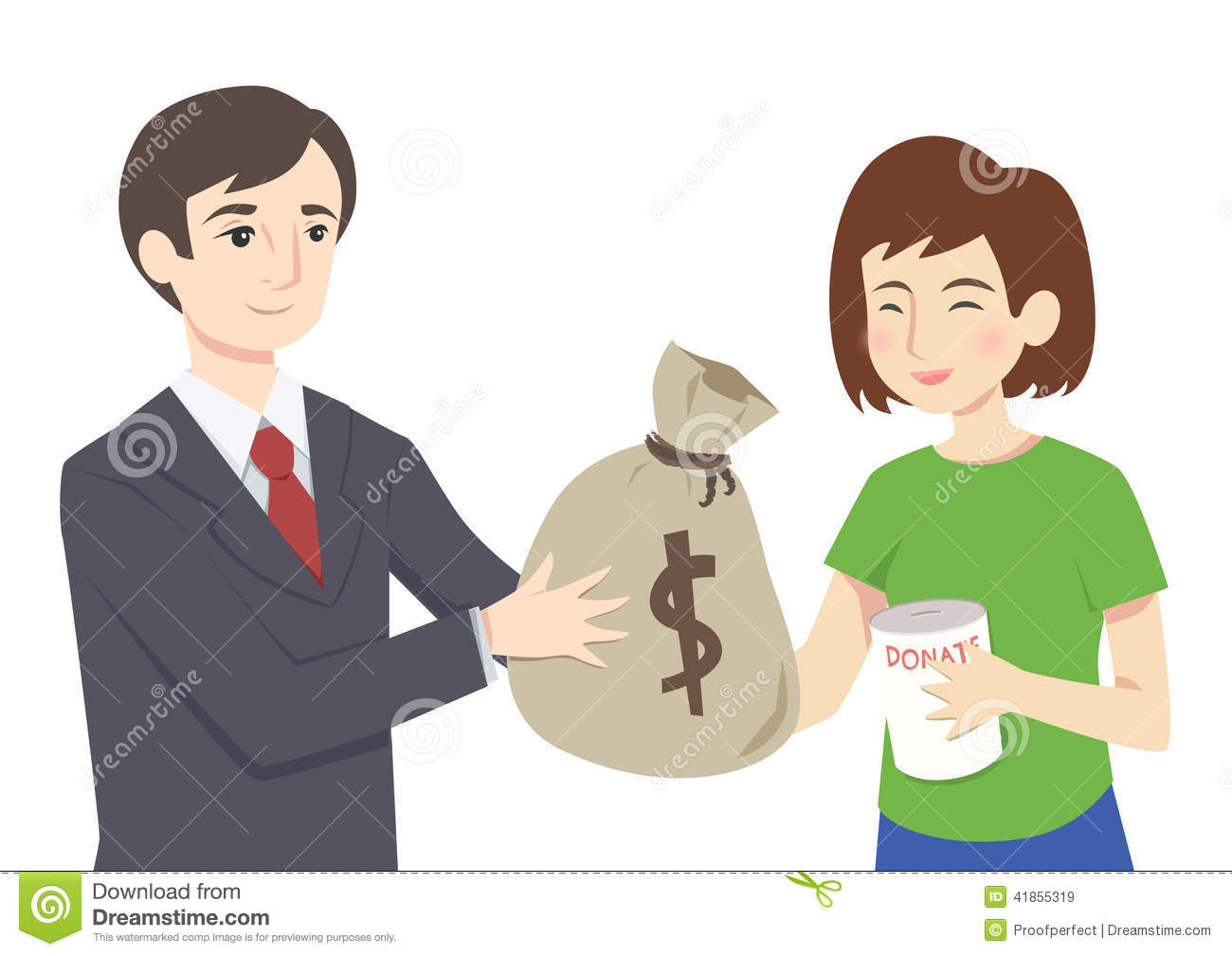 Man Giving Money Clipart.