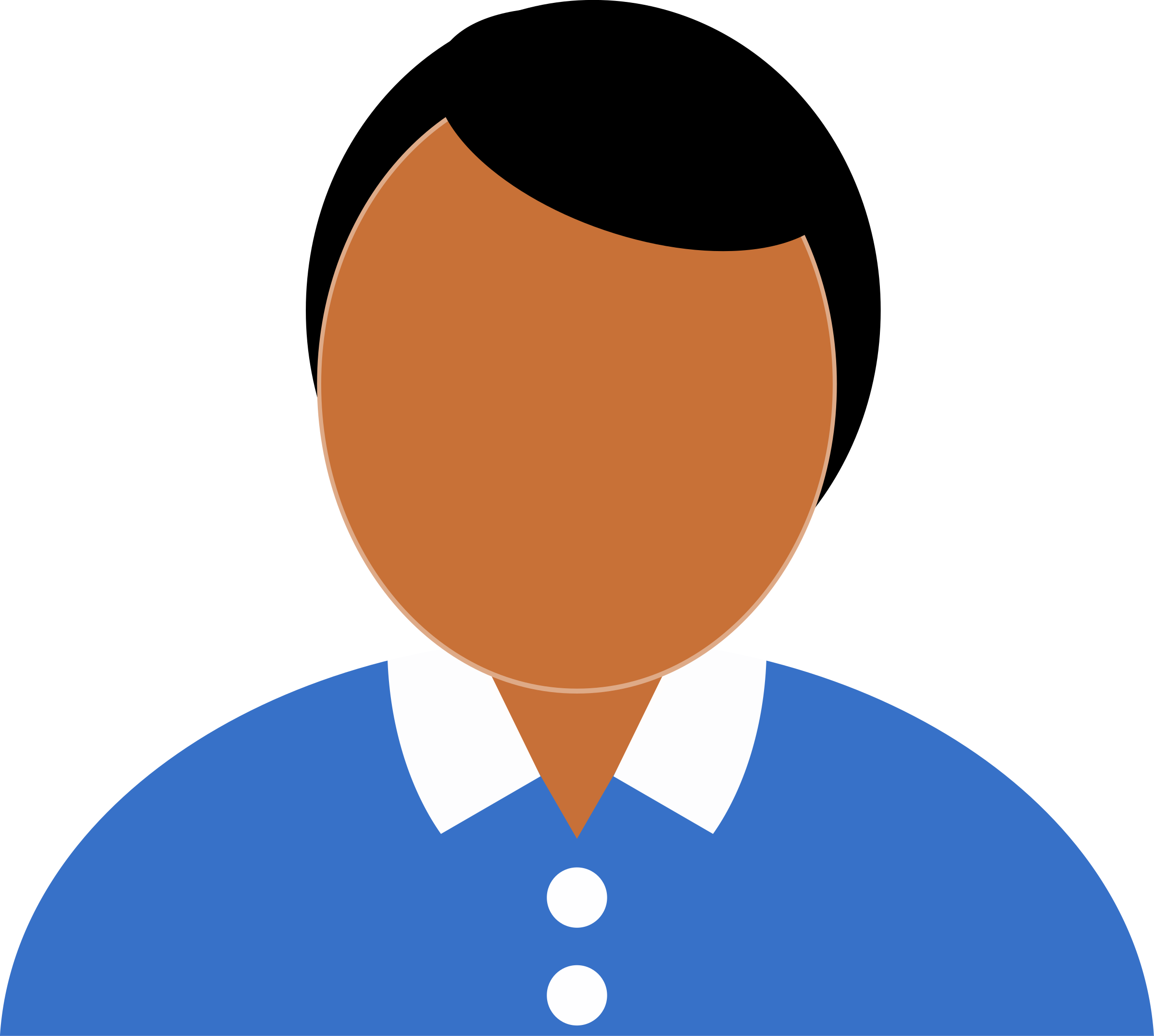 Man With Something Under Shirt Clipart.