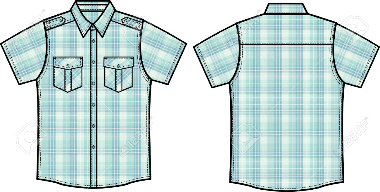 Men Checked Shirts Royalty Free Cliparts, Vectors, And Stock.