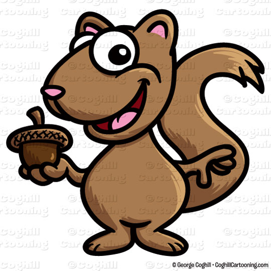 Old Man Squirrel Clipart.