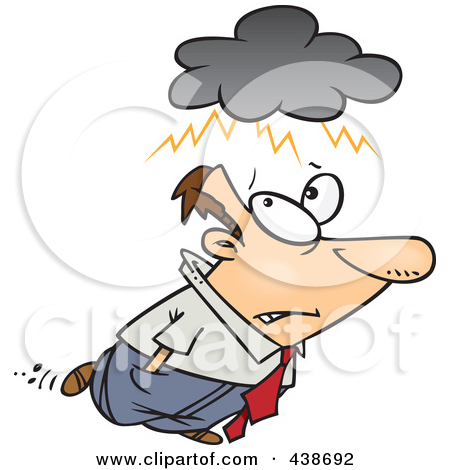 man with storm clouds clipart #6