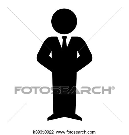 Man executive suit tie Clipart.