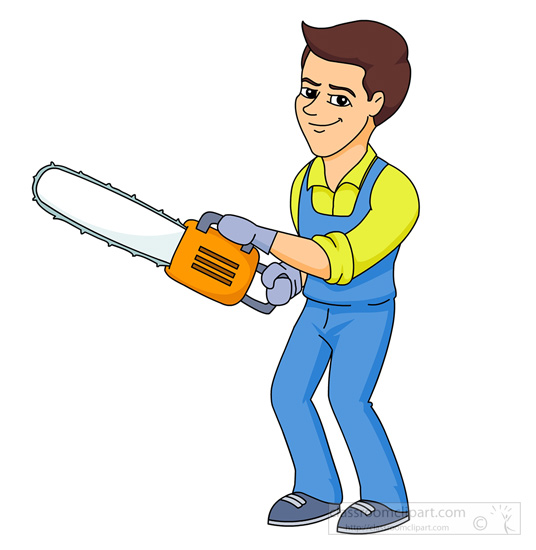 Man with tools clipart.