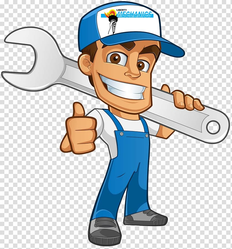 Man holding wrench service advertisement illustration, Car.